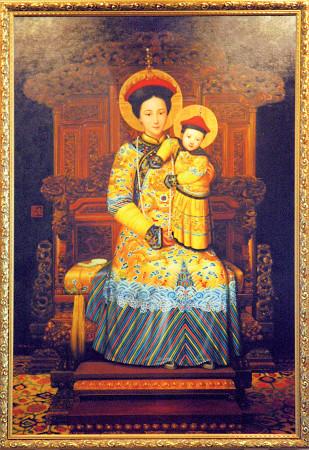 Znalezione obrazy dla zapytania matka boża cesarzowa chin obraz