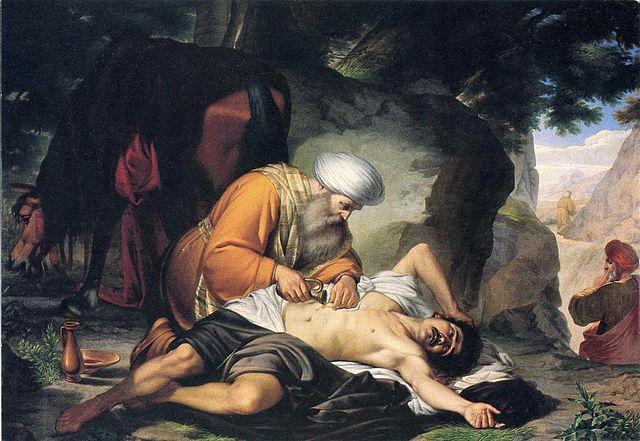 Znalezione obrazy dla zapytania miłosierny samarytanin obraz